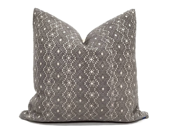 """Featured listing image: 19"""" grey Chinese wedding blanket pillow cover"""