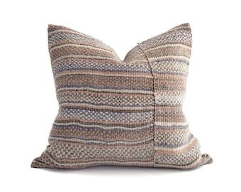 "19""x20"" heavyweight hemp Chinese wedding blanket pillow cover"
