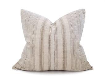 "22""x24"" mushroom stripe hmong hemp pillow cover"