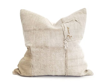 """21"""" Turkish hemp rug pillow cover"""