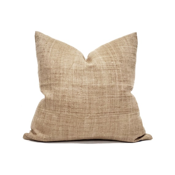 various sizes tan stripe cotton Asian textile pillow Hmong pillow cover stripe pillow