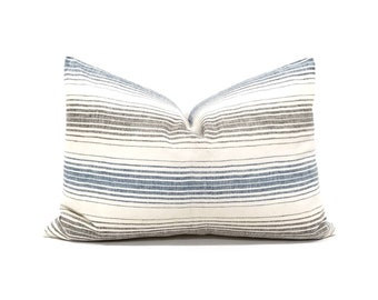 """15""""×22"""" Indonesian cotton stripe pillow cover"""