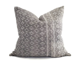 """20"""" grey Chinese wedding blanket pillow cover"""