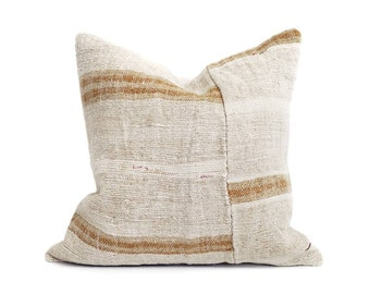 """19"""" Turkish hemp rug pillow cover"""