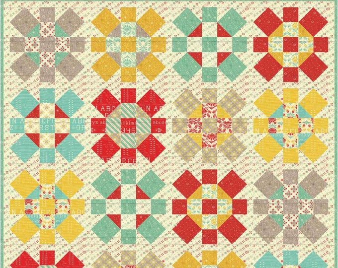 Merry Jane patchwork quilt pattern