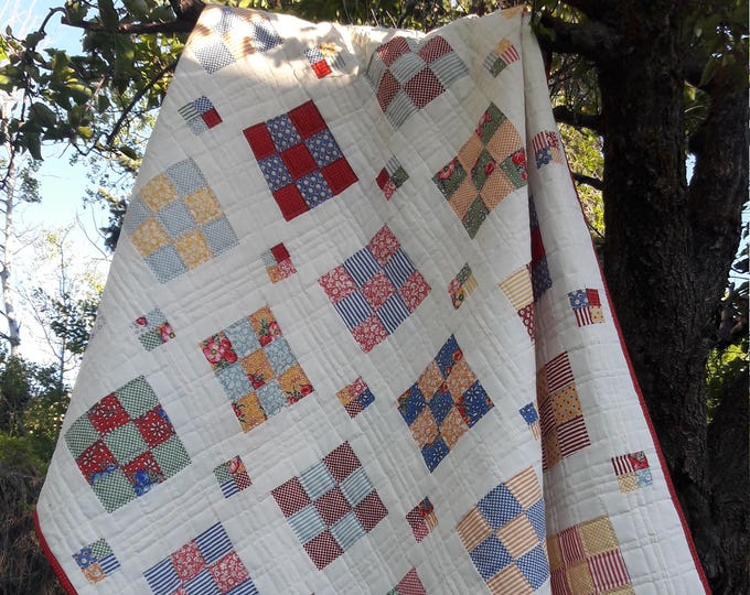 Floating Boxes a precut jelly roll friendly, throw, pdf quilt pattern