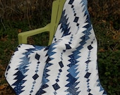 Rhythm & Blues masculine pdf quilt pattern,