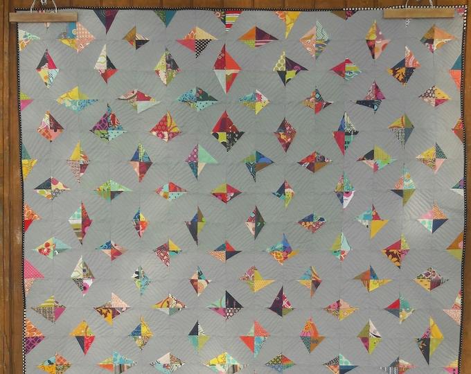 Uncut Diamonds, a modern, scrap friendly, patchwork quilt pattern
