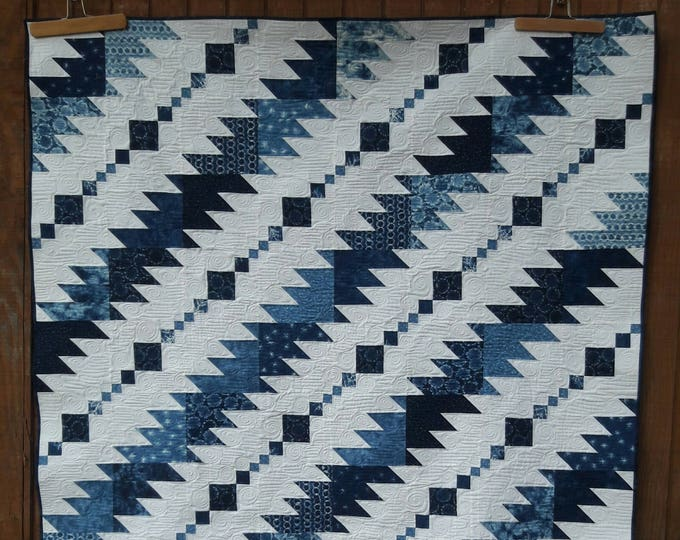 Rhythm & Blues pdf quilt pattern, great for a man or musician