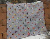Uncut Diamonds, a modern quilt pattern