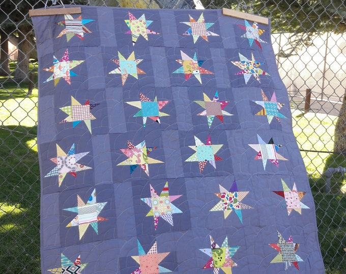 Sparkle a modern, scrap friendly, patchwork, baby quilt pattern