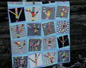 Yarn Bomb Trees a layer cake, modern quilt pattern
