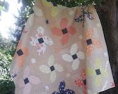 Posy Parade patchwork flower, fat quarter pdf quilt pattern