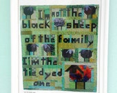 Downloadable print, I'm Not the Black Sheep