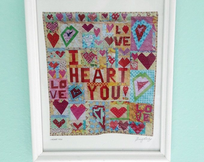 Downloadable Wall Art ~ I Heart You