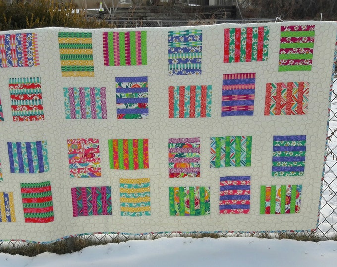 Raised Beds a patchwork, layer caked friendly, beginner pdf quilt pattern
