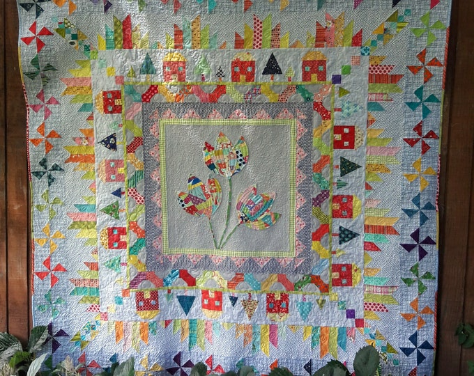Mountain Home Medallion pdf quilt pattern