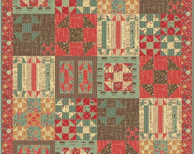 Ho Down patchwork quilt pattern