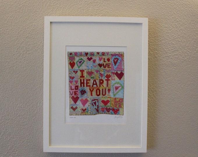 Downloadable Wall Art ~ I Heart You