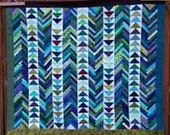 Geese on the Lake a triangle and string, patchwork, pdf quilt pattern