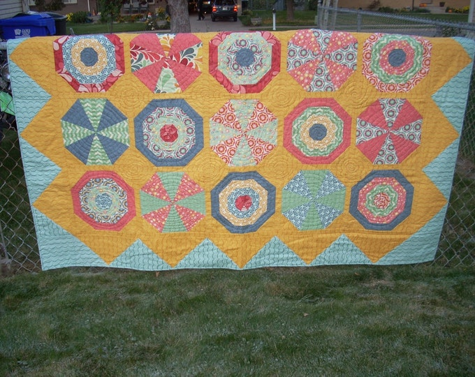 Beach balls and Umbrellas quilt pattern