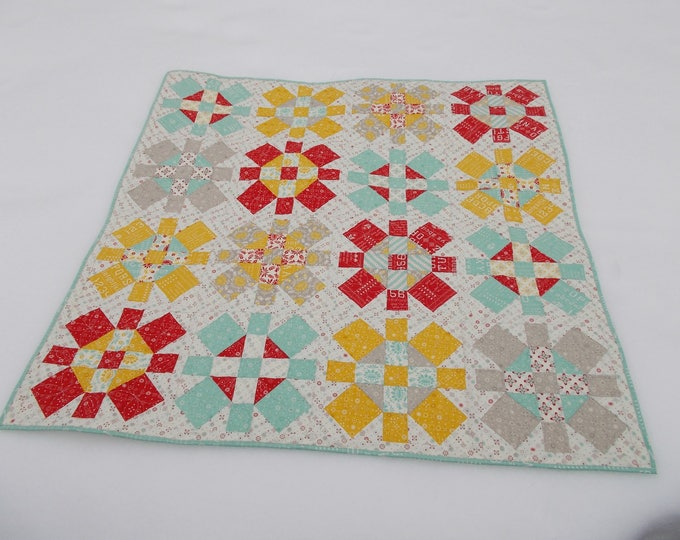 Merry Jane a patchwork, square in a square, plus sign pdf quilt pattern