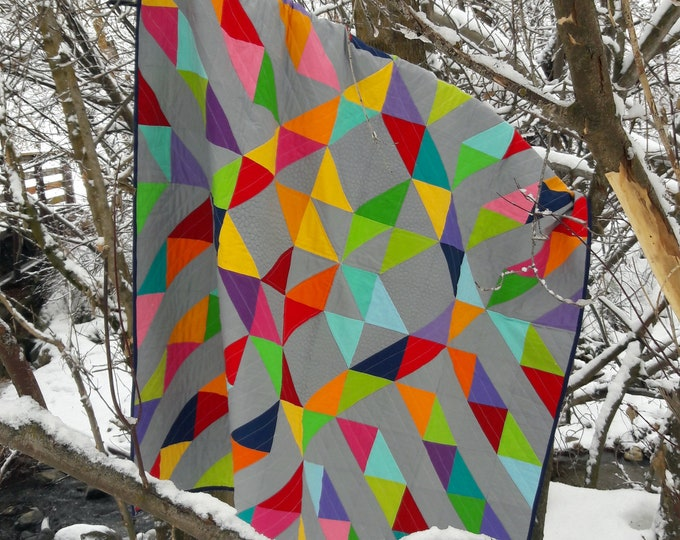Sunshine on a Cloudy Day modern quilt pattern