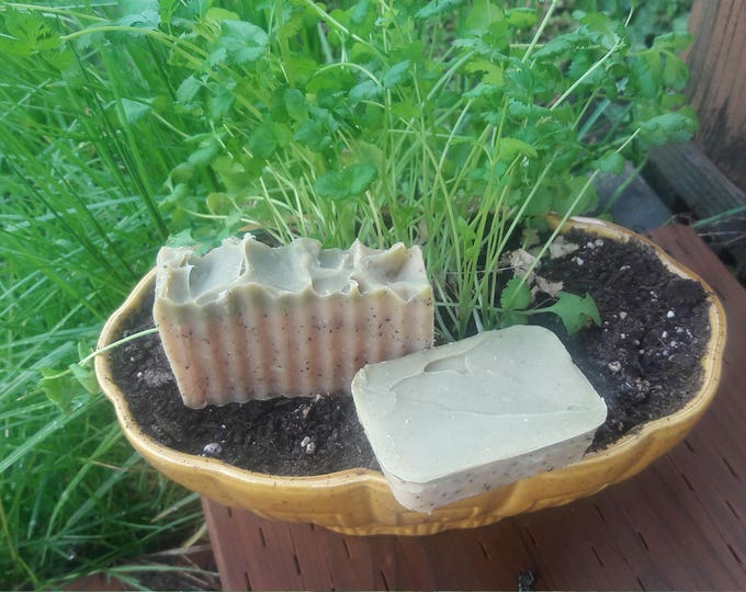 All Natural Gardener's Soap scented with basil and citrus essential oils