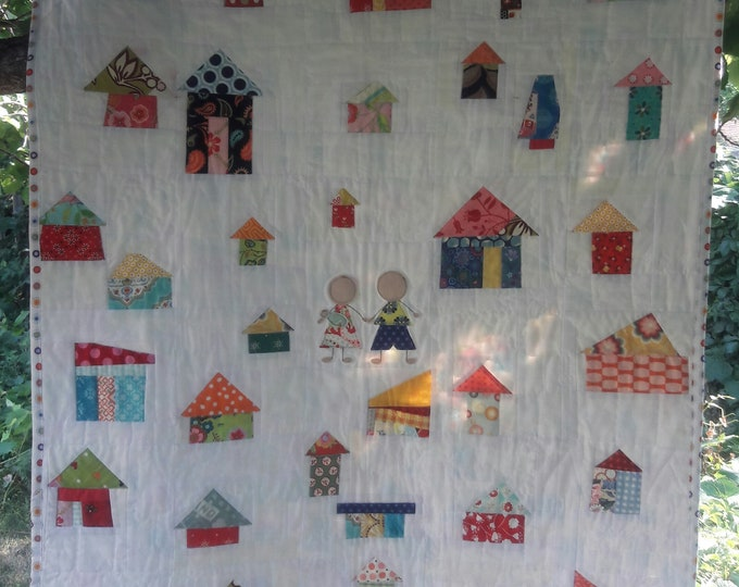 It Takes A Village modern quilt pattern