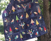 Enchanted Forest free form, scrap quilt PDF pattern