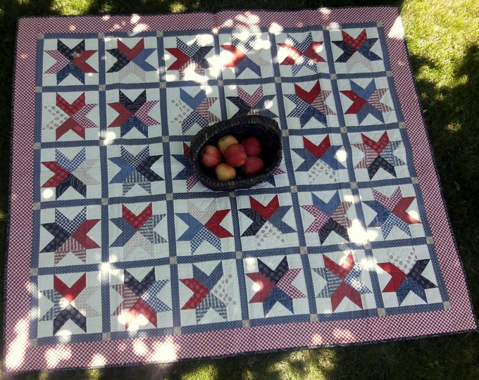 Braveheart picnic quilt & matching table runner pdf quilt pattern