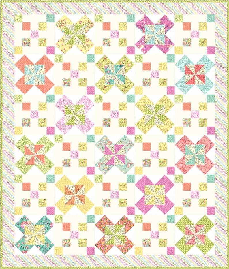 Posy Path pdf quilt pattern image 0