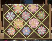 Garden Party a Dresden plate pdf quilt pattern
