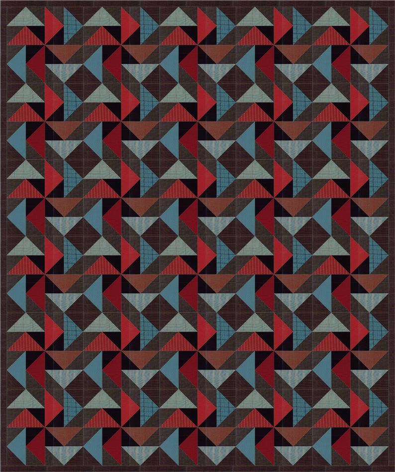 Night Winds a man quilt pattern image 0