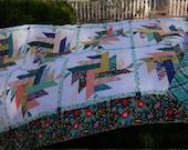 Dahlia  a layer cake pdf quilt pattern