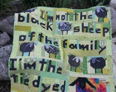 Tie Dyed Sheep a scrap quilt pattern