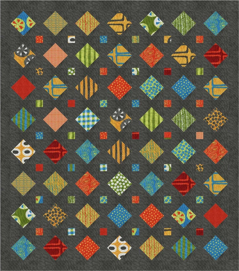 Treasures a pre-cut  patchwork scrap quilt pattern with image 0
