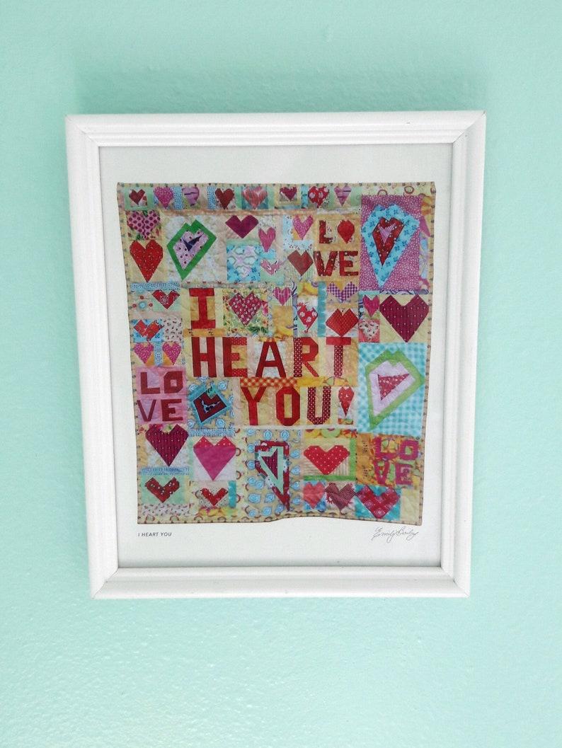 Downloadable Wall Art  I Heart You image 0