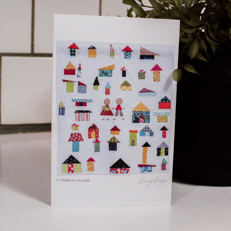 It Takes a Village Greeting Card image 0