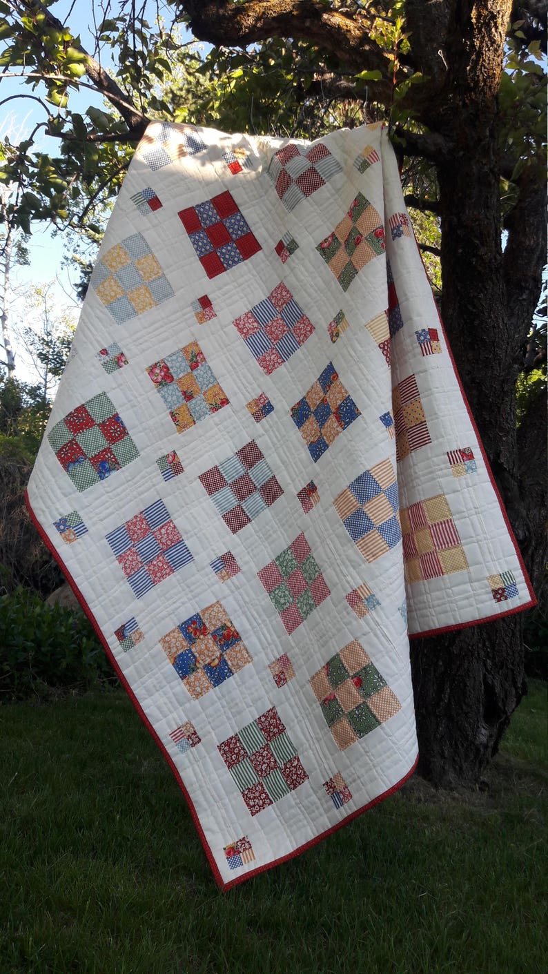 Floating Boxes a jelly roll pdf quilt pattern image 0