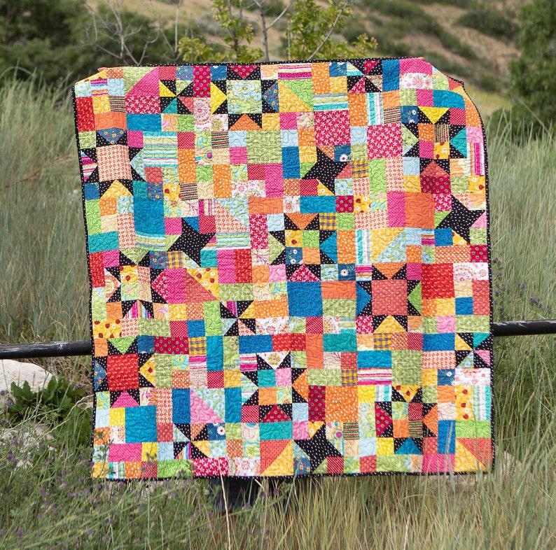 Harvest Sky scrap quilt pattern image 0