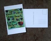I'm not the Black Sheep quilt postcard