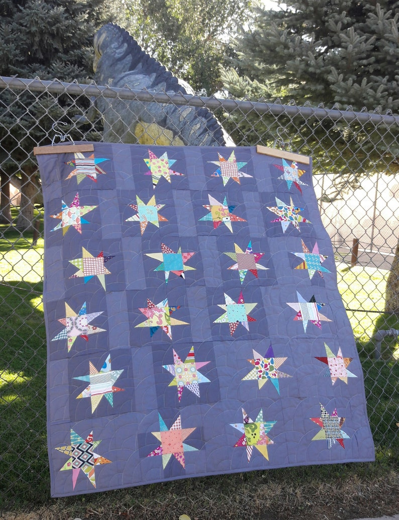 Sparkle a modern baby quilt pattern image 0