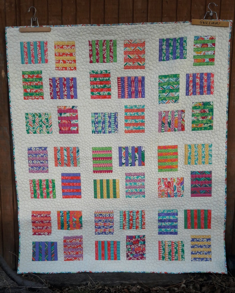 Raised Beds layer cake quilt pattern image 0