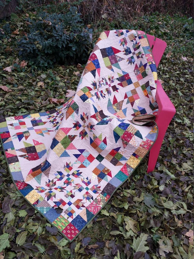 Bear Scraps scrap quilt pattern image 0