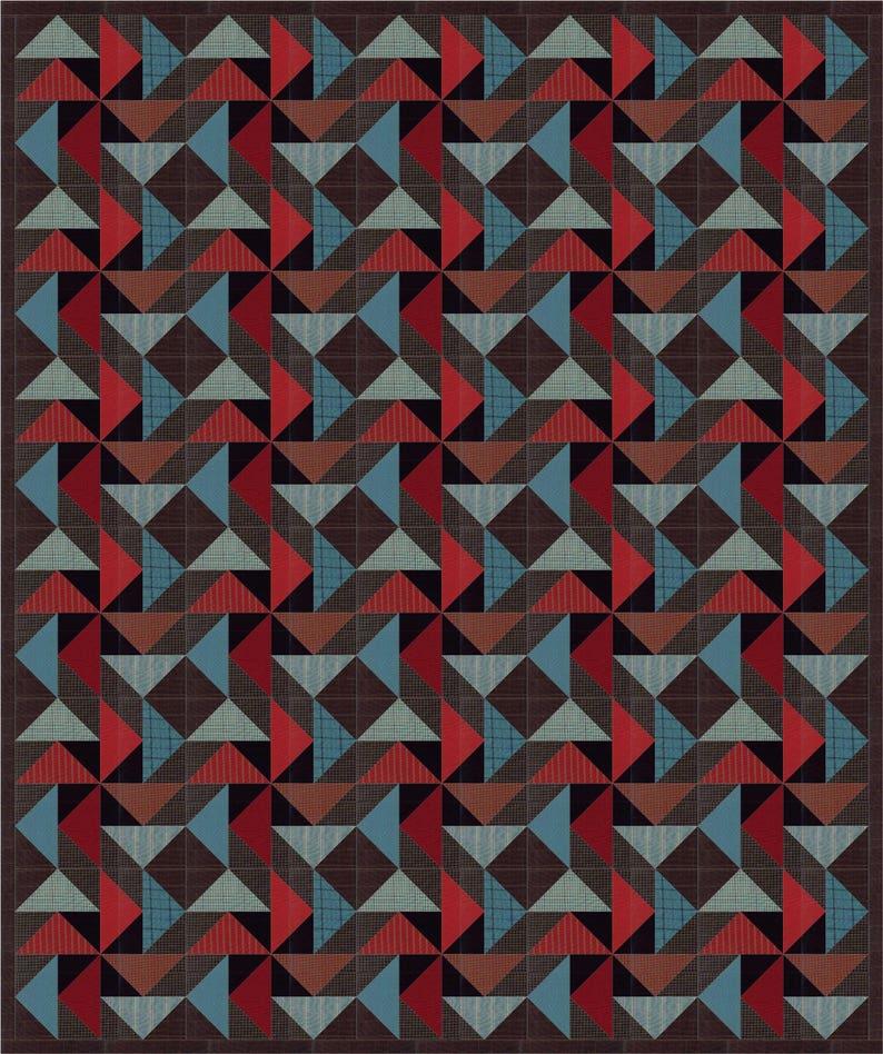 Night Winds a man quilt pdf pattern image 0