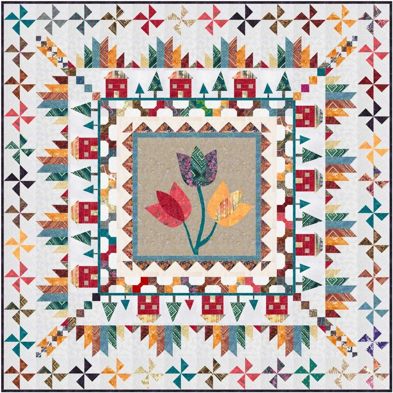 Mountain Home Medallion pdf quilt pattern image 0