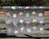 Sparkle, a modern, baby quilt pdf pattern
