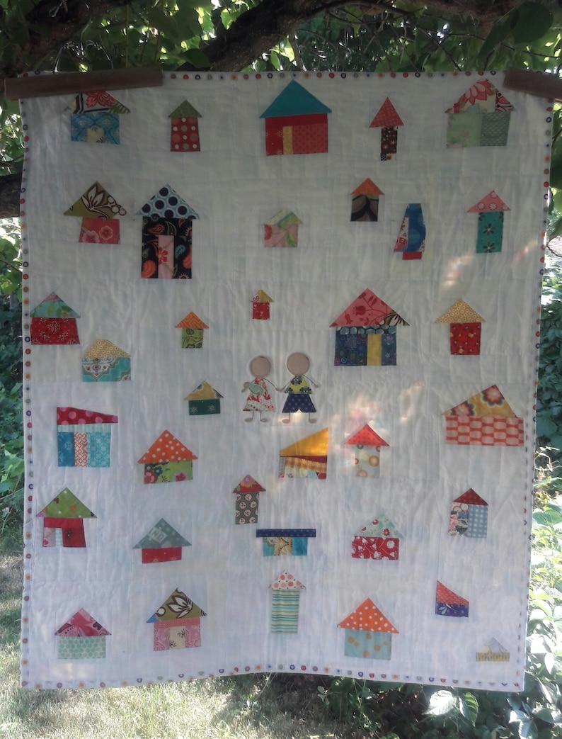It Takes A Village modern quilt pattern image 0