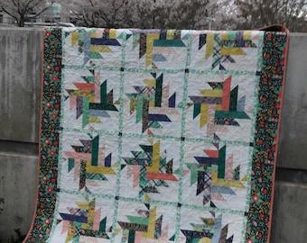 Dahlia, layer cake quilt pattern